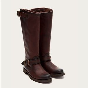 Frye Veronica Slouch brown leather riding boot 8.5